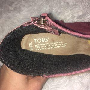 Toms Shoes - Toms burgundy wedges